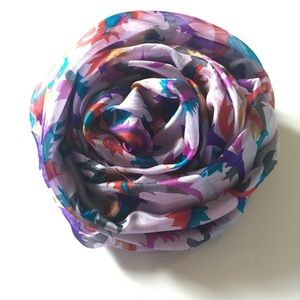 Printed Silk Scarf, Turban, Hijab New Without Tag
